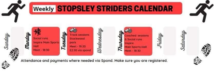 Stopsley Striders Welcome Back